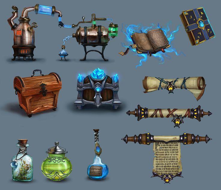 Object for mobile games, Dmitry Morozov on ArtStation at https://www.artstation.com/artwork/object-for-mobile-games