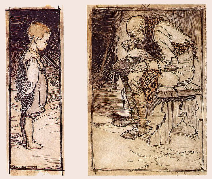 Image result for brothers grimm old man and grandson