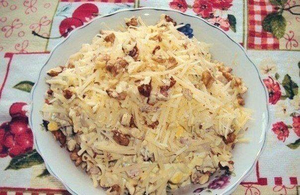 Салат «Сытый гость» | Кулинарные Рецепты