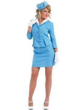 Cabin Crew (Blue) - Adult Fancy Dress Costume by fun shack