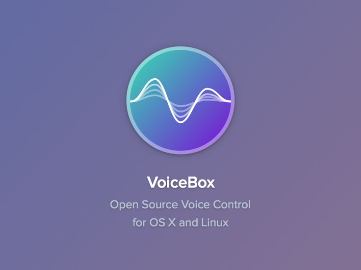 Icon for VoiceBox, an open source voice control app :) VoiceBox