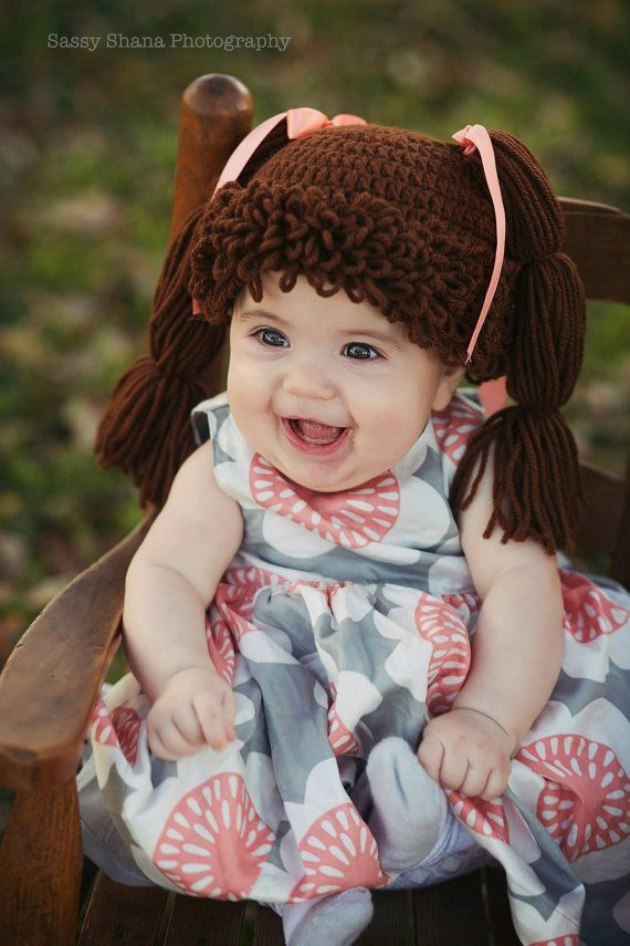 Crochet Cabbage Patch Hat on Etsy, $20.00