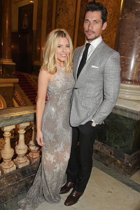 David Gandy & Mollie King at the LDNY Catwalk Show in London on April 27, 2015...