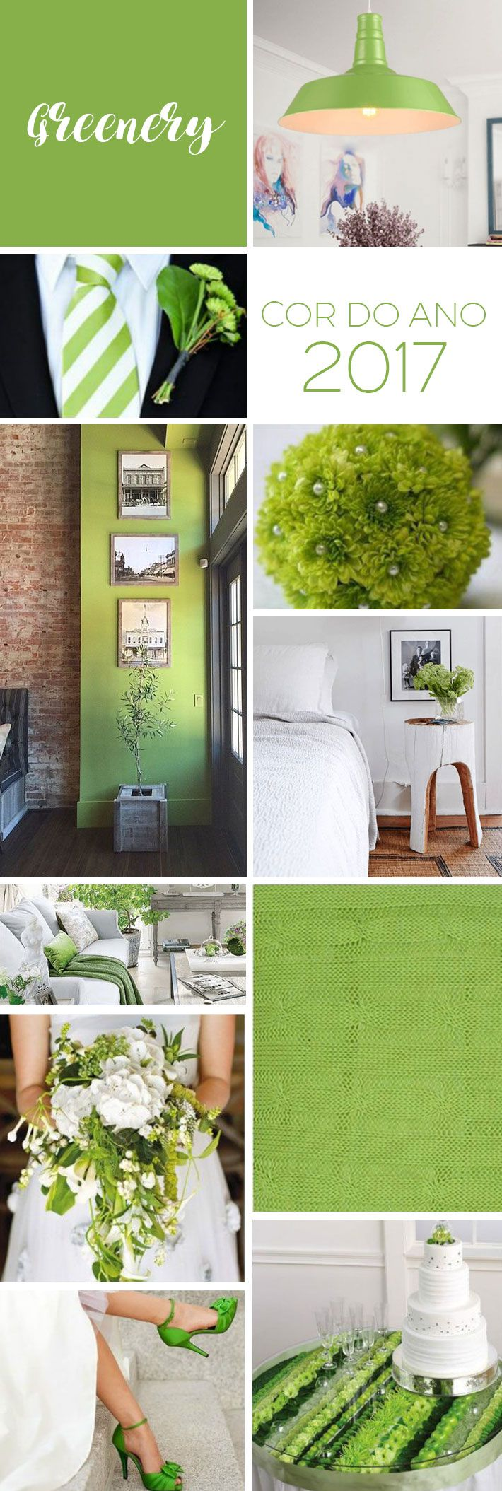 A cor do ano 2017 | Verde Greenery by Pantone http://comprandomeuape.com.br/2016/12/cor-ano-2017-verde-greenery-pantone.html