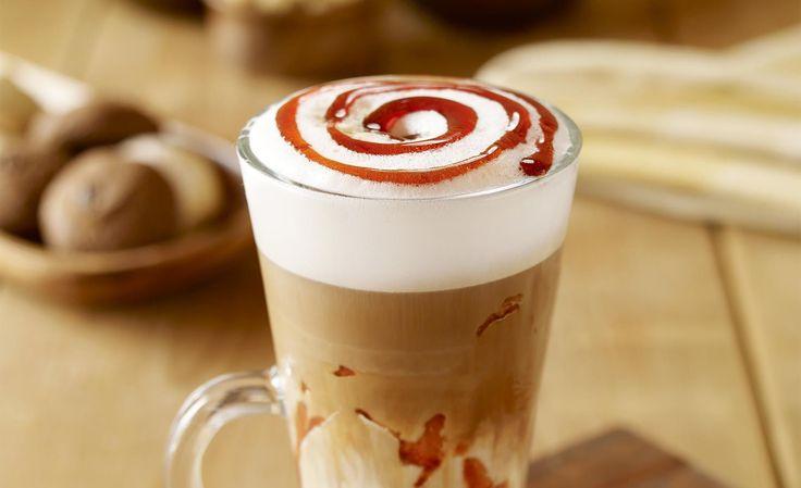Hop into Starbucks and try the yummy Caramel Macchiato.