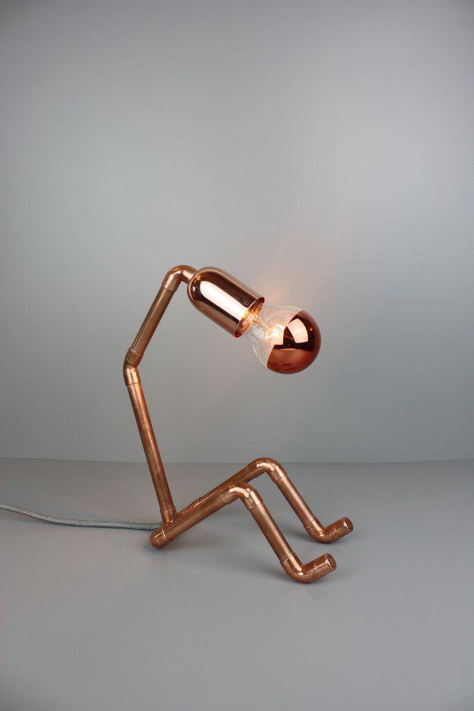 Lampe Nf 123 Etagere En Tuyau Lampe Cuivre Deco Cuivre