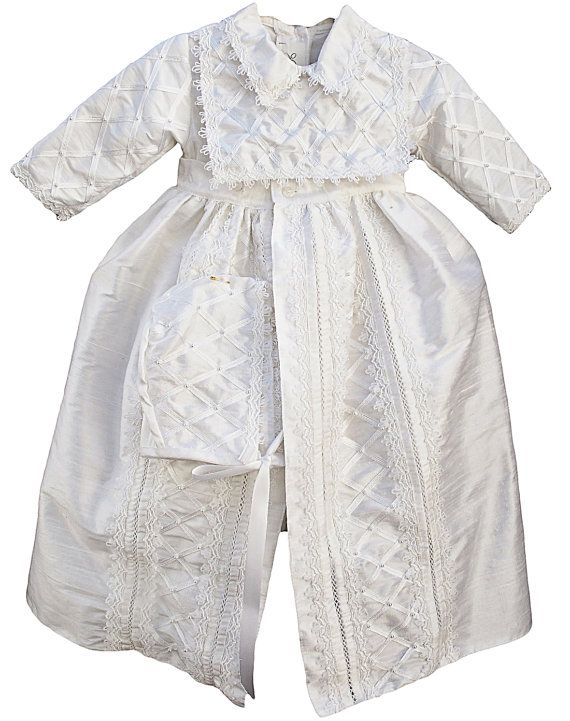 Baby Boy Christening outfit Spanish Style Gown ropones by Burbvus