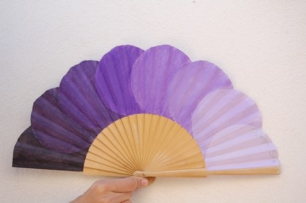 Purple Painted Fan