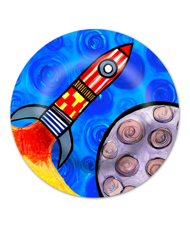 Emily Green 3, 2, 1 Blast Off Plate | Daily deals for moms ...