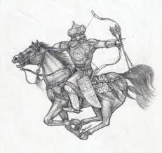 Hungarian warriors were very high trained back in the years and before the foundation of the Hungarian state. Riders could wing arrows from saddle while turning backward.