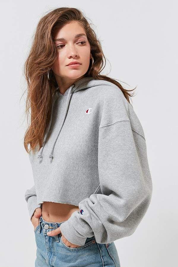 champion cropped sweatshirt