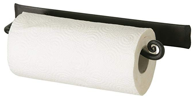 Amazon Com Decorative Wall Paper Towel Holder Black Stylish