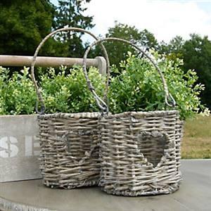 Wicker plant holders