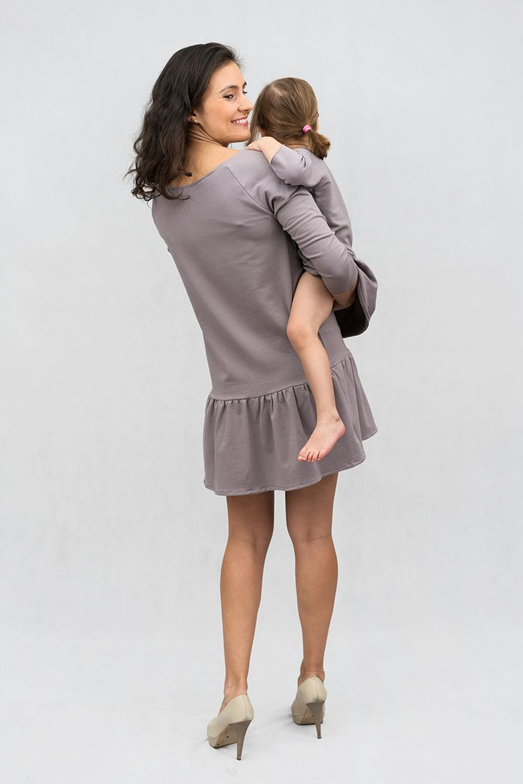 Me and mammy matching clothes - Dress with frill by The Same http://www.thesame.eu