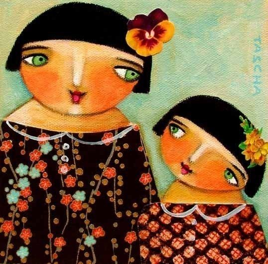 SISTERS print 6x6 by tascha on Etsy