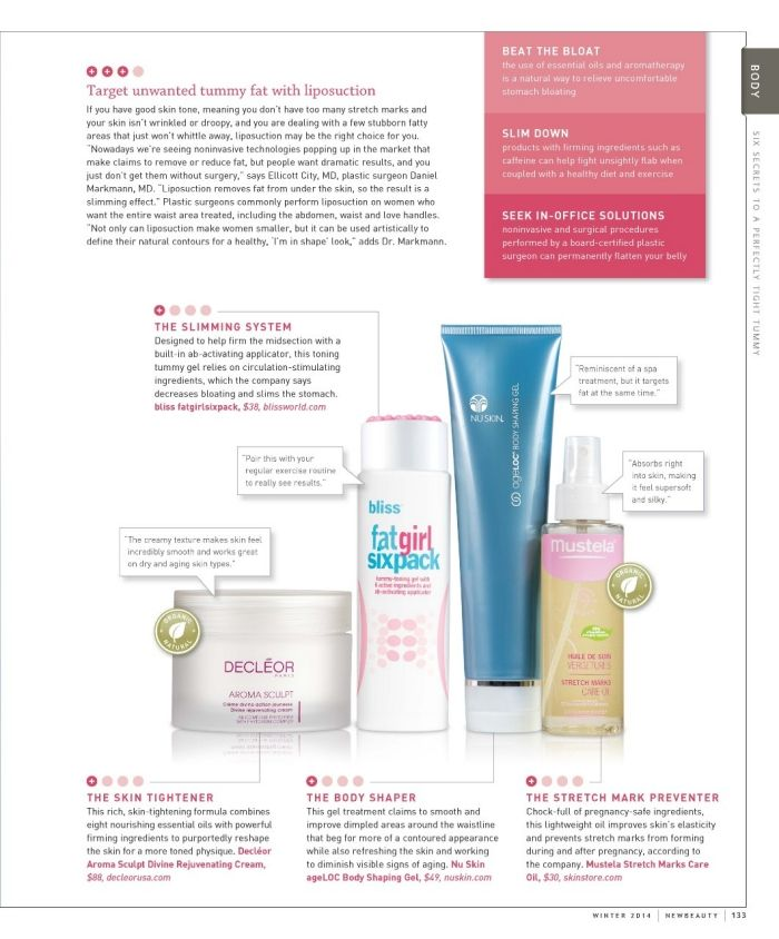 ageLOC Body Shaping featured in NEW BEAUTY Spring 2014