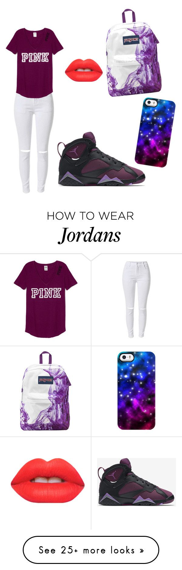"""Untitled #1"" by uniqueboom on Polyvore featuring NIKE, Lime Crime, JanSport, Uncommon, women's clothing, women's fashion, women, female, woman and misses"