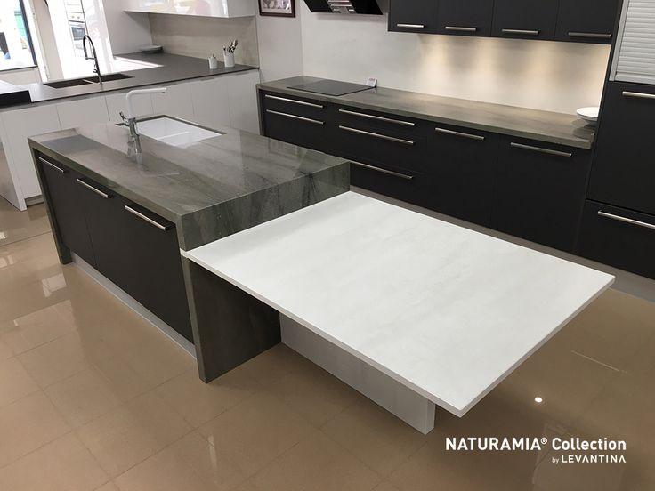 Verde Lara es uno de los granitos Naturamia® Collection más fascinantes, por su extraordinario diseño y un color que emana intensa quietud/Verde Lara is one of the most fascinating granites of Naturamia® Collection thanks to its extraordinary design and a colour that emanates intense stillness. #NaturalStone #countertops #encimeras #levantina #piedranatural #diseño #interiorismo #kitchendesign