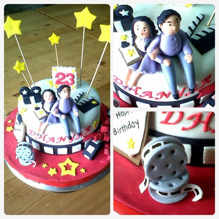 broadcasting school theme birthday cake