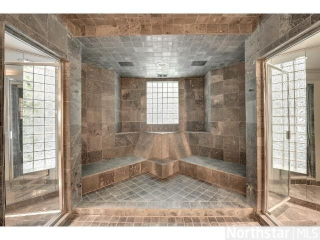 enormous walk in shower room