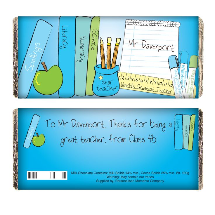 68 best teachers gifts images on pinterest presents for teachers teachers books male chocolate bar negle Images