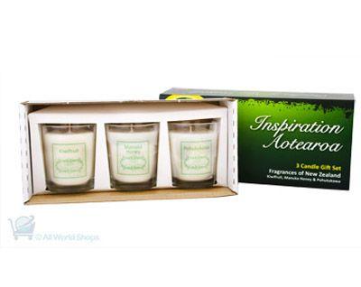 Inspiration Aotearoa Candle Gift Set - 3 Candles | Shop New Zealand NZ$ 57.90