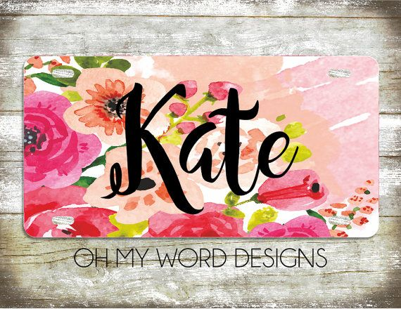 Personalized Car Tag-Personalized License by OhMyWordDesigns