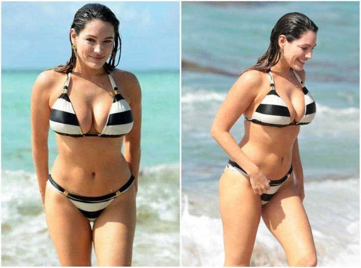 Kelly Brook's weight - 145,5 pounds (66 kg)
