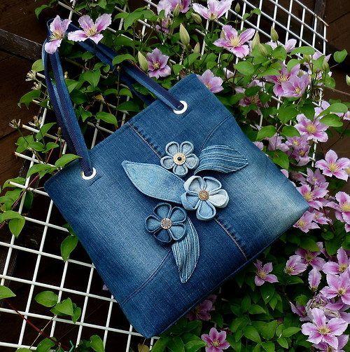 30 variantes de sacs fabriqués à partir de vieux jeans | PicturesCrafts.com