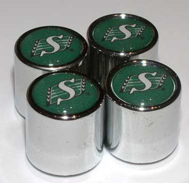 Saskatchewan Roughriders 4-Pack Team Logo Valve Stem Caps