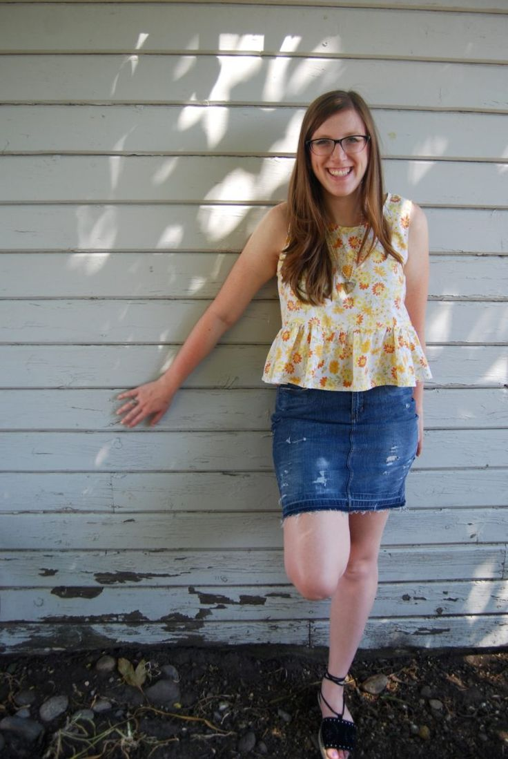 Vintage Tablecloth to Tank Top Refashion + Youtube Video