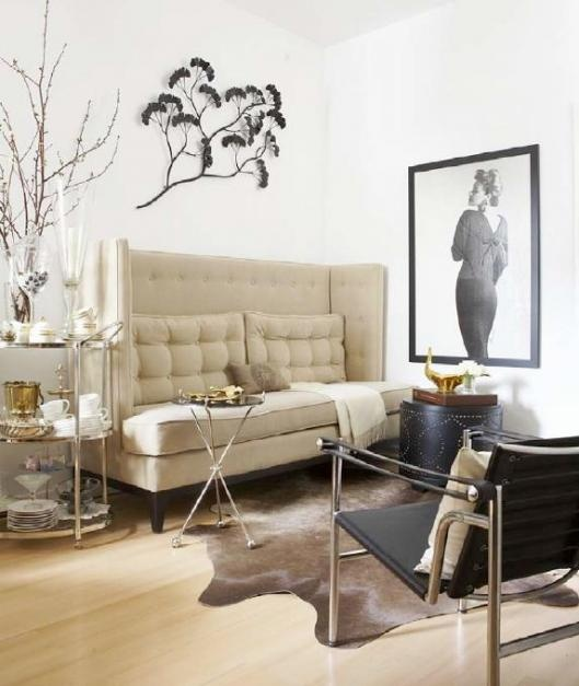 Decorating Small Condo Spaces: Son Hallway The Tufted High Back Sofa...sigh