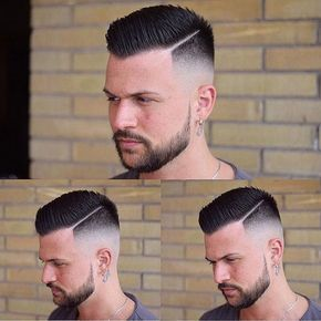 Balding Haircuts - High Skin Fade with Spiky Come Over