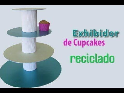 Exhibidor de Cupcakes Reciclado - Tutorial