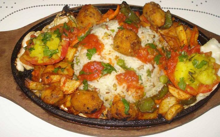 Rice Sizzler With Tomato Coulis Recipe