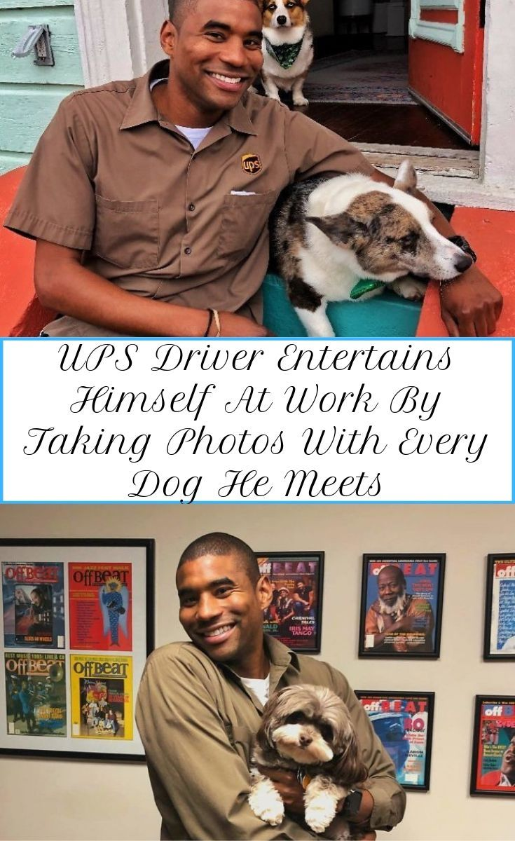 Ups Driver Takes Pictures With Dogs