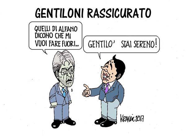 """Gentiloni e Alfano, ovvero i """"rasserenati"""", secondo Matteo Renzi…"""