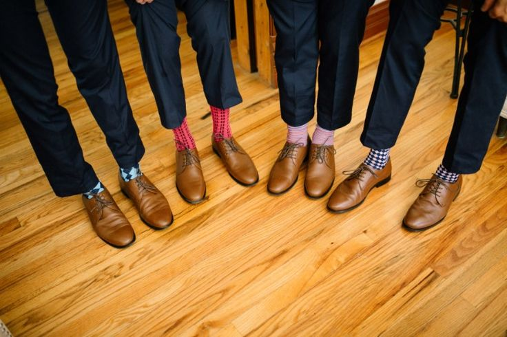 Glamorous Denver Wedding at Four Seasons Denver, CO  We love fun socks for grooms and groomsmen!   Photographer:  Brittany Renee Photography