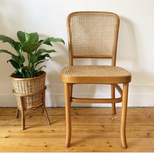 Vintage Hoffmann 811 Style Cane Bentwood Chair Rattan Thonet Style