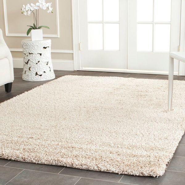 Safavieh Cozy Beige Shag Rug (4' x 6') - Overstock™ Shopping - Great Deals on Safavieh 3x5 - 4x6 Rugs