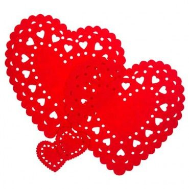 Valentine's Day Heart Shaped Placemat 2  Pack