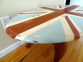 Union Jack Coffee table by Oliver Treasures!