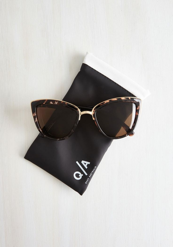 Talking 'Bout My Girl Sunglasses. People cant help but ask about your My Girl sunnies from Quay every time you sport them with style! #brown #modcloth
