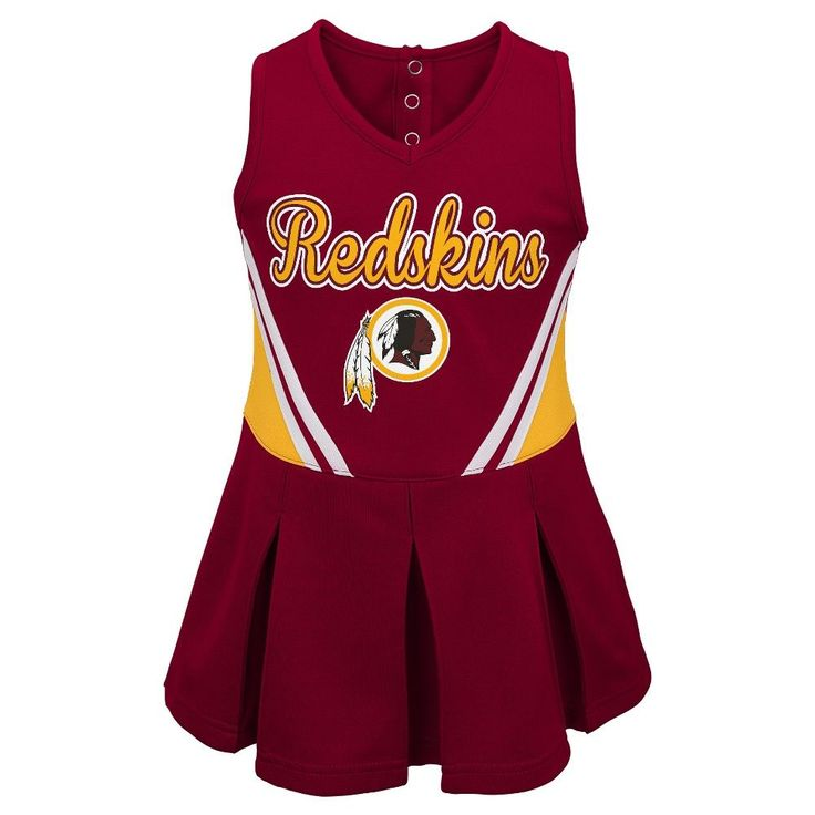 Washington Redskins Toddler Girls' Cheer Set - Team Color 3T,