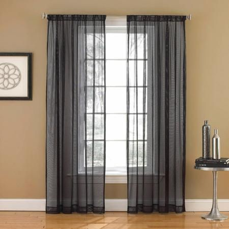 Network Mesh Sheer Rod Pocket Curtain Panel Walmart Com