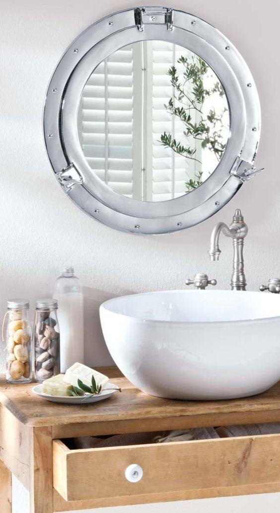 die besten 25 bullauge spiegel ideen auf pinterest runde spiegel kleine runde spiegel und. Black Bedroom Furniture Sets. Home Design Ideas