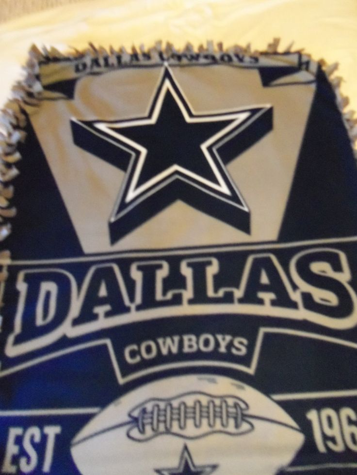Brand New Texas  NFL Dallas Cowboy's  Double Sided Hand Tied Fleece Blanket by…