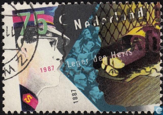 1987 - Leger des Heils (PM) 75 - postzegel - Nederland - Catawiki Ontwerper Rik Comello