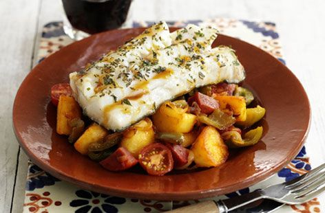 Impress your dinner guests with this flavoursome and fiery Spanish recipe. Find out how to make cod with chorizo and view hundreds of other recipes at Tesco Real Food today!