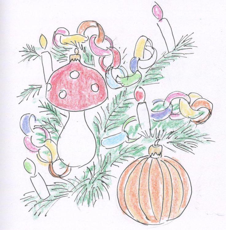 W latach 80-tych na gałęziach choinki wisiały różnokolorowe i niespecjalnie pasujące do siebie ozdoby: malowane bombki, muchomorki, szyszki, a wszystko to oplecione łańcuchem z kolorowego papieru i włosem anielskim.